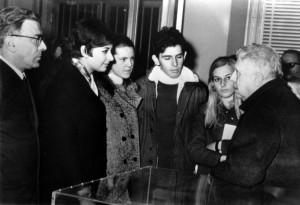 Stelio Crise ed Eugenio Montale alla Biblioteca del Popolo di Trieste