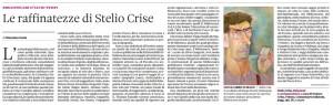 L'articolo di Massimo Gatto su Stelio Crise
