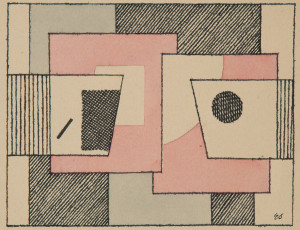 Eduard Stepančič, Composizione colorata. 1927-1928 circa